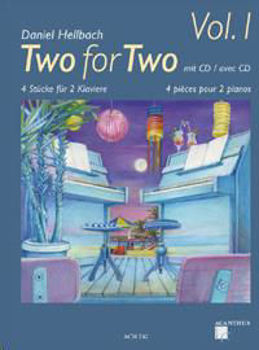Image de HELLBACH TWO FOR TWO V1 2 PIANOS +CDgratuit