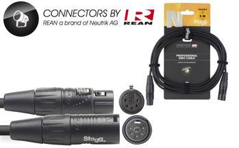 Image de Cable Lumière DMX 01M XLR/XLR 5 Broches 05M