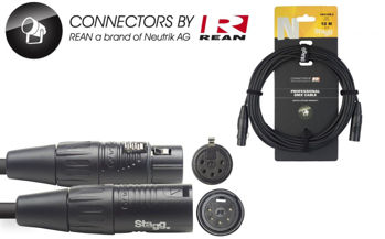 Image de Cable Lumière DMX 01M XLR/XLR 5 Broches 10M
