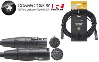 Image de Cable Lumière DMX 01M XLR/XLR 5 Broches 15M
