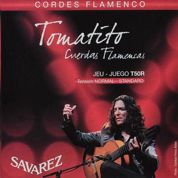 Image de JEU CORDES Guitare Classique Flamenco SAVAREZ Tomatito Tension Normale T50R