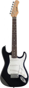 Picture of Guitare Electrique 3/4 STAGG Type Strat NOIRE