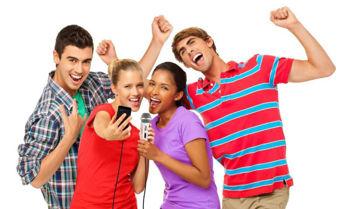 Image de Microphone KARAOKE pour IOS IK MULTIMEDIA Blanc