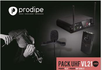 Picture of Micro Sans Fil UHF instrument à vent Prodipe PACK SB21