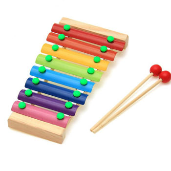 Picture of Xylophone 8 notes Do à Do /socle bois en pochette