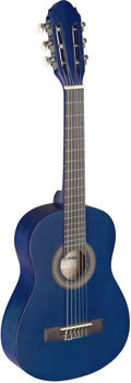 Image de Guitare Classique 1/4 Tilleul Bleu Mat