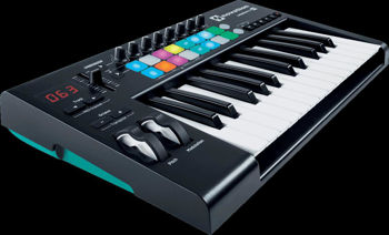Image de CLAVIER MAITRE MIDI NOVATION 25 Grandes Touches 16 Pads