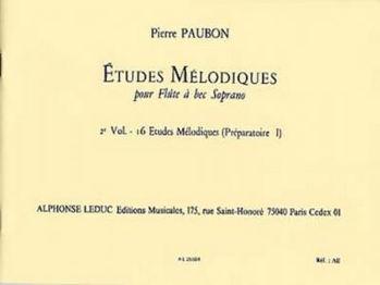 Image de PAUBON 16 ETUDES MELODIQUES PREPARATOIRES 1 Flute à bec soprano