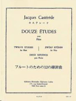 Picture of CASTEREDE 12 ETUDES Flute Traversière