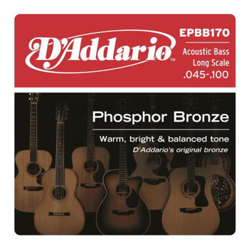 Picture of Jeu Basse Acoustique D'ADDARIO Phosphore Bonze 45-100