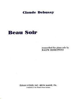 Image de DEBUSSY BEAU SOIR Piano