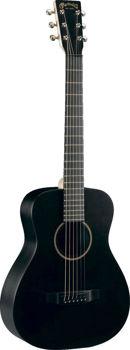 Image de Guitare Folk Acoustique MARTIN Little Martin LX-BK Composite Noire +Housse