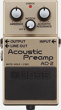 Picture of Pedale Effet PREAMPLI Guitare Acoustique BOSS AD-2 Acoustic Preamp