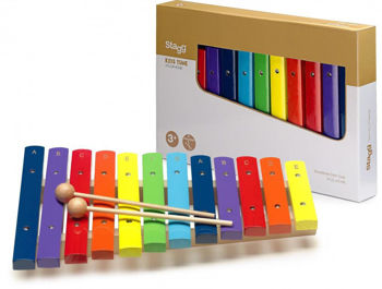 Picture of Xylophone Bois STAGG Serie Kids Tune 12keys Rainbow Color