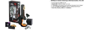 Picture of Guitare Electrique Pack VGS Sunburst 3 tons avec ampli et accessoires