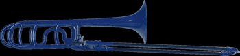 Image de Trombone Ténor Plastique SIB/FA COOLWIND Bleu Nuit