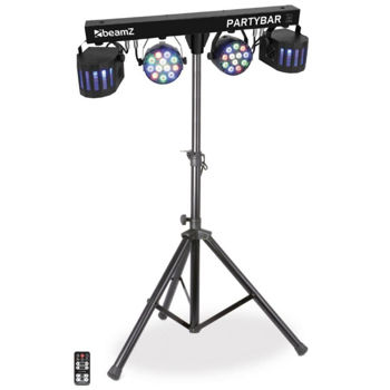 Picture of Set 4 Effets Lumineux LEDS BeamZ PartyBar2 RGBW 2xPar12*1w 2xderby