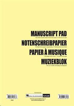 Image de BLOC PAPIER A MUSIQUE 100 PAGES Portées Recto Verso