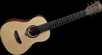 Picture of Guitare Classique Mini Electro Acoustique LAG Epicea + Housse