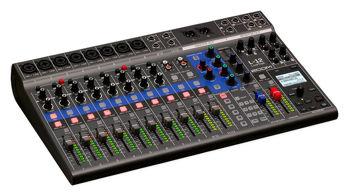 Image de Table Mixage Numerique ZOOM LiveTrack L-12 Façade et Retour & Enregistrement