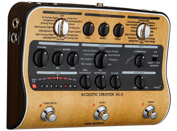 Picture of Pedale Effet Instruments Acoustiques & Boitier Direct ZOOM AC-3 8 Reverbs