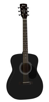 Image de Guitare Folk Acoustique CORT AF510 Black Satiné