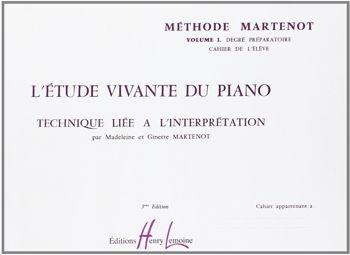 Image de MARTENOT Étude Vivante du PIANO VOL1 préparatoire élève