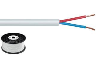 Picture of Cable Haut Parleur 2X1.5MM2 BLANC LE METRE
