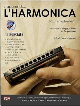 Image de J'APPRENDS L'HARMONICA TOUT SIMPLEMENT METHODE VERNET Harmonica