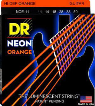 Image de JEU cordes electriques DR NEON orange 11-50