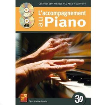 Image de L'ACCOMPAGNEMENT AU PIANO EN 3D +CD+DVDgratuits Piano