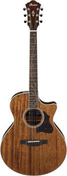 Image de Guitare Folk Electro Acoustique IBANEZ AE245 Naturel Gloss Acajou Massif