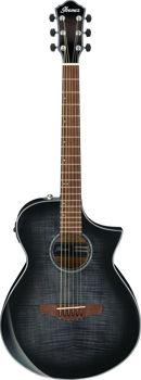Image de Guitare Folk Electro Acoustique IBANEZ Serie AEWC400 Transparent Black Sunburst High