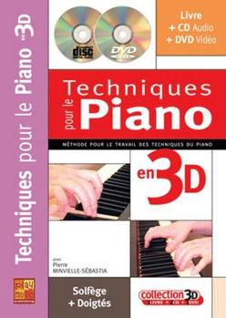 Image de MINVIELLE Techniques Piano Méthode en 3D+CD+DVD