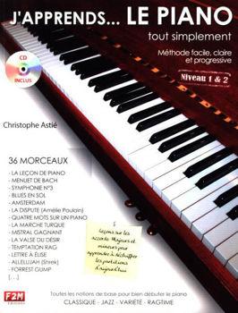 Picture of J'APPRENDS LE PIANO NIVEAU 1&2 C.ASTIE + CDgratuit