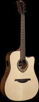 Picture of Guitare Folk Electro Acoustique LAG Tramontane T318DCE Epicéa Massif / Ovangkol