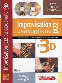 Picture of IMPRO JAZZ AU SAX EN 3D +CDgratuit +DVDgratuit saxophone