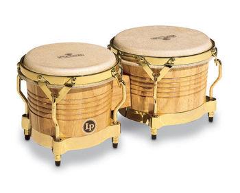 """Image de BONGO Latin Percussion MATADOR 7""""1/4 8""""5/8 Chêne Naturel GOLD LP-M201-AW"""
