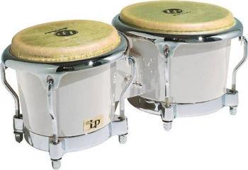 """Image de BONGO Latin Percussion FIBRE DE VERRE BLANC LP200XF-WH 7""""1/4 et 8""""5/8"""