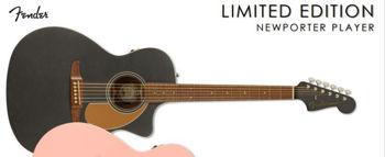 Picture of Guitare Folk Electro Acoustique FENDER NEWPORTER Edition Limitée Charcoal Frost Metallic